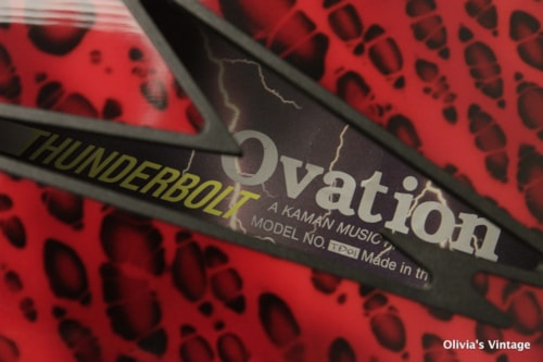 1989 Ovation Thunderbolt TD01 Red Dragon Skin