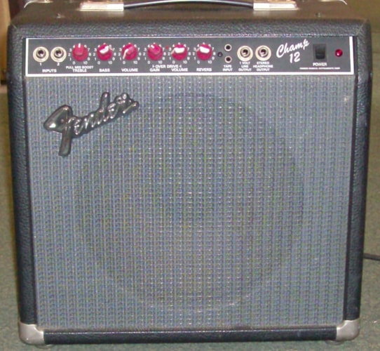 1990 Fender® Champ® 12 Black, Excellent
