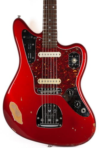 ~1990 Fender MIJ Jaguar in Candy Apple Red with Matching Headstock