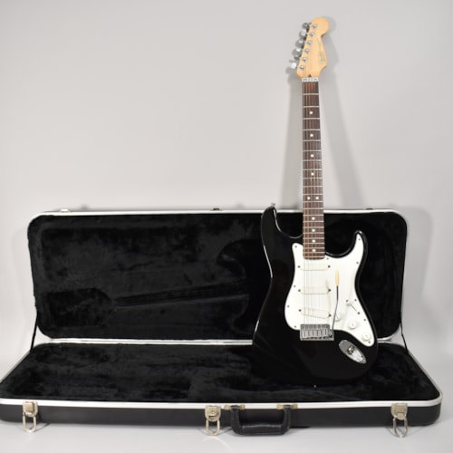 1991 Fender Stratocaster Plus Black Finish Electric Guitar w/OHSC