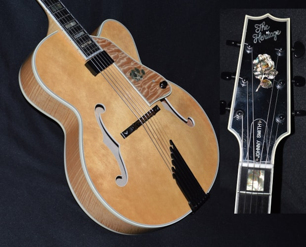 1991 Heritage Johnny Smith Rose Natural, Near Mint, Original Hard, $6,600.00