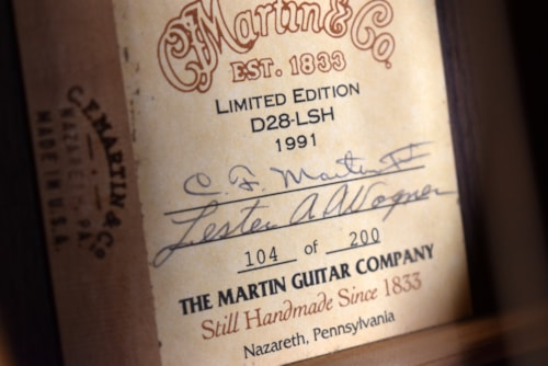 1991 Martin D28 LSH Limited Edition Natural Finish Acoustic Guitar w/OHSC