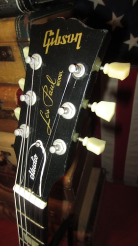 1992 Gibson Les Paul Studio Black, Excellent, Hard