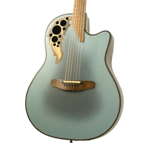 1992 Ovation Adamas 1581-8 Two-Tone Blue/Silver, Excellent, Hard