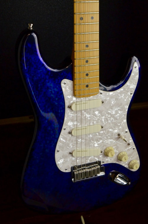 Ground Wire Color >> 1995 Fender Stratocaster Aluminum American Deluxe Blue ...