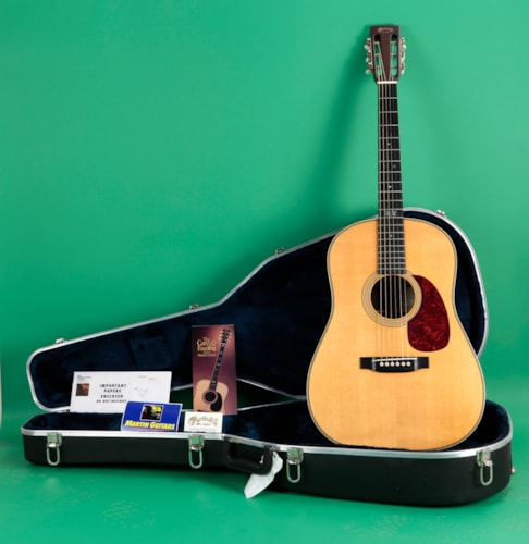 1995 Martin HD-28 SO Pete Seeger Sing out Edition Natural, Excellent, Original Hard