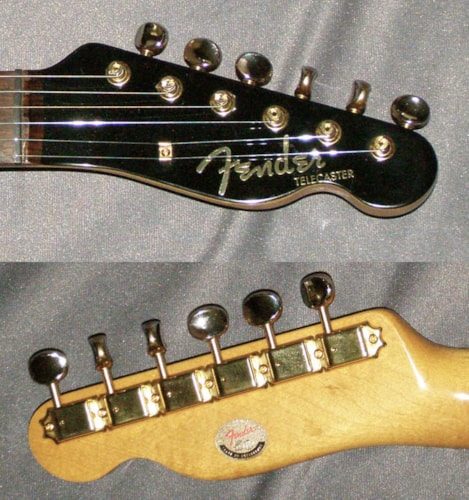 1996 Fender® Japan Custom Telecaster® 50th Anniversary Black-Gold-Pearl, Excellent, GigBag, Call For Price!