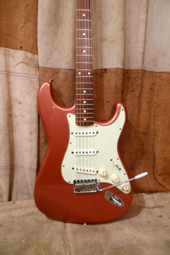 1996 Fender® Stratocaster® (1962 Reissue) Burgundy Mist, Very Good, GigBag, $875.00