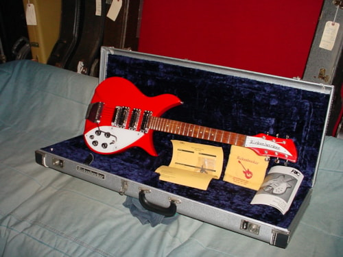 1996 Rickenbacker 325V63 Red Rare for this Model Accent Vibrato Vintage Pickups Silver Case