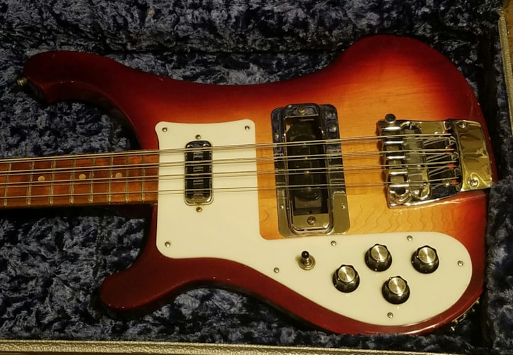 1996 Rickenbacker 4003 8-String Bass LEFTY FireGlo, Very Good, Original Hard, $1,299.00