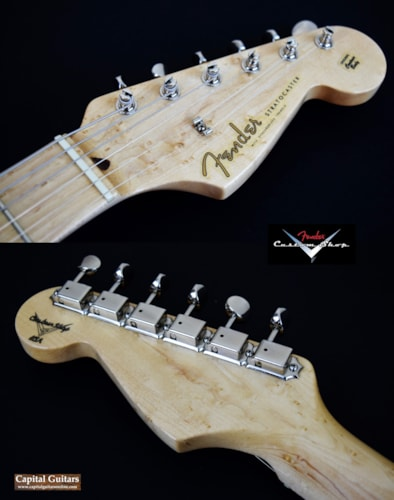 1997 Fender Custom Shop John Page Era 1958 Stratocaster Vintage Blonde, Near Mint, Original Hard, $2