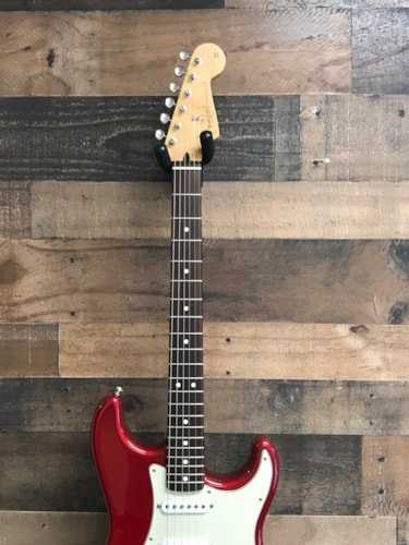 1997 Fender Stratocaster MX Candy Apple Red, Very Good, GigBag, $650.00