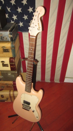 1997 Squier® By Fender® Vista Series Musicmaster™ Guitar Pink w Matching Headstock, Excellent, GigBag, $599.00