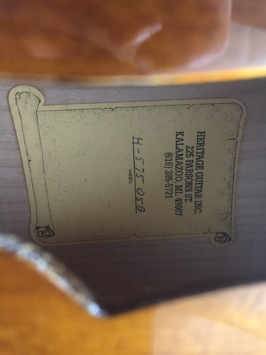 1998 Heritage H-575 SUNBURST, Mint, Original Hard
