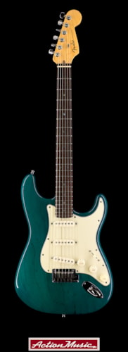 1999 Fender American Deluxe Stratocaster Teal Green Transparent, Fair, Hard, $899.00