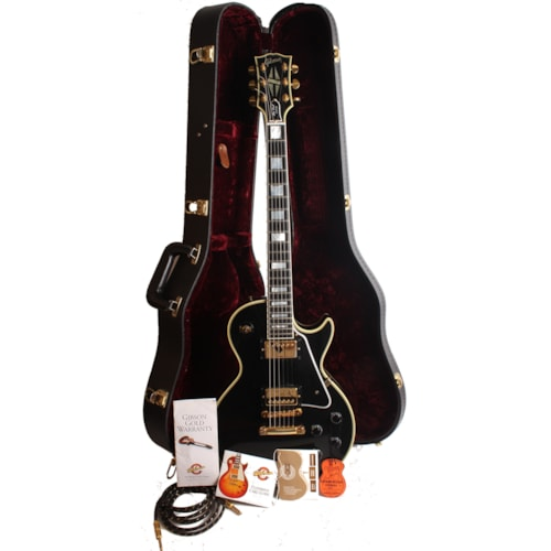 1999 Gibson Custom Shop LPB-7 Les Paul Black Beauty (1957 Reissue) Excellent, Hard, $2,800.00