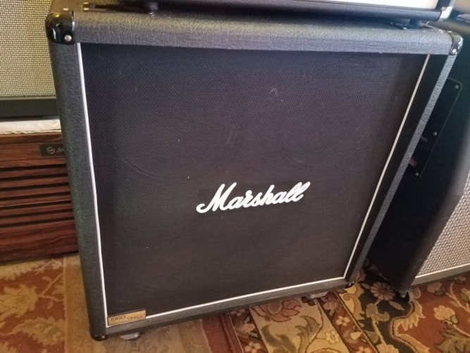 2000 Marshall 1960 BV Vintage 4x12 Straight Amp Cab Black, Excellent, $499.00