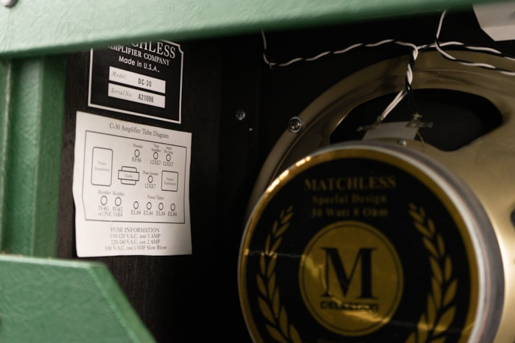 2000 Matchless Matchless Clubman Head / DC30 cabinet Green, Very Good, Soft, $1,999.00