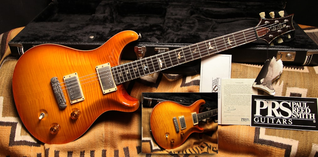 2000 Paul Reed Smith McCarty Custom Amber Burst, Excellent, Original Hard