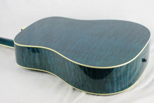MINT 2000 Taylor GSLJ Living Jewels Aqua Blue Koi Fish Guitar! Bearclaw Quilted GS
