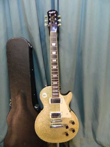 2001 Epiphone Les Paul Standard Silver Sparkle, Very Good, Hard, $549.00