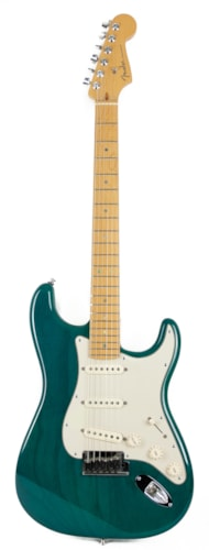 2001 Fender American Deluxe Stratocaster in Transparent Teal