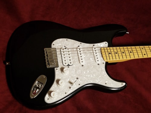 2001 Fender® Custom Shop Sub-Sonic™ Stratocaster® Baritone Black, Excellent, Original Hard, $1,999.00