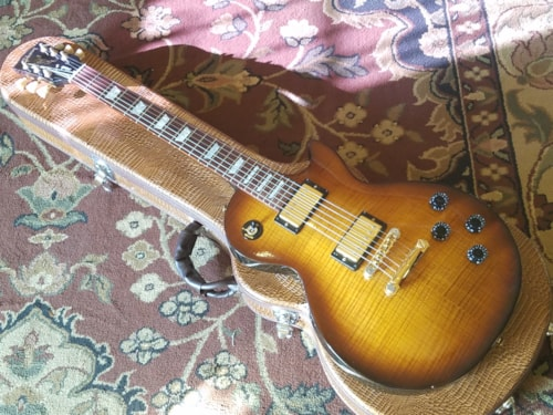 2001 Gibson Studio Plus - Flametop Fireburst, Very Good, Hard, $999.00