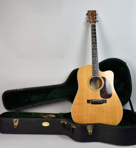 2001 Martin  DC-16RGTE Acoustic Electric Cutaway Natural Guitar USA w/OHS Natural, Very Good, Original Hard, $995.00