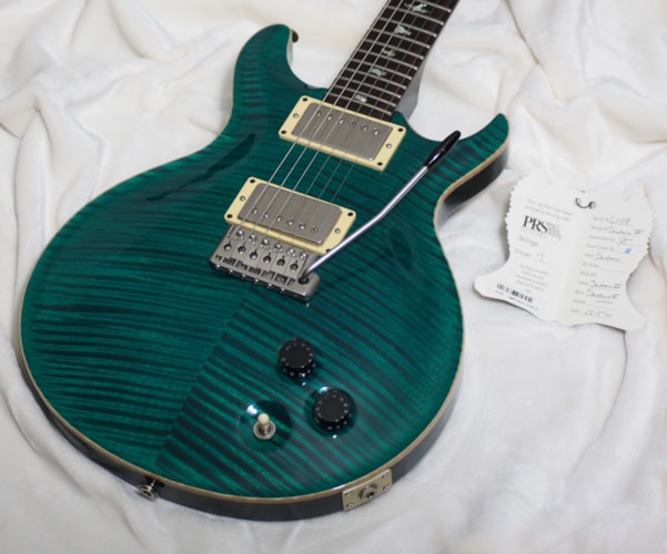2001 PRS Santana III Turquoise Shell, Excellent, Hard, $2,795.00