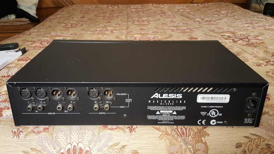 2002 Alesis ML-9600 High Resolution Master Link Recorder Black, Excellent, $325.00