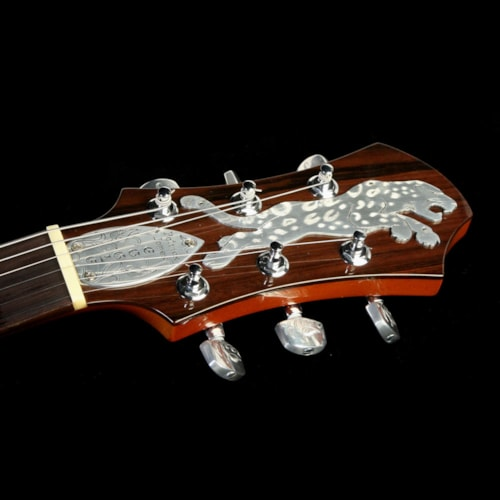 2002 Eggle Used 2002 Patrick James Eggle Jaguar Custom Engraved Electric Guitar Metal Top Excellent, $9,999.00