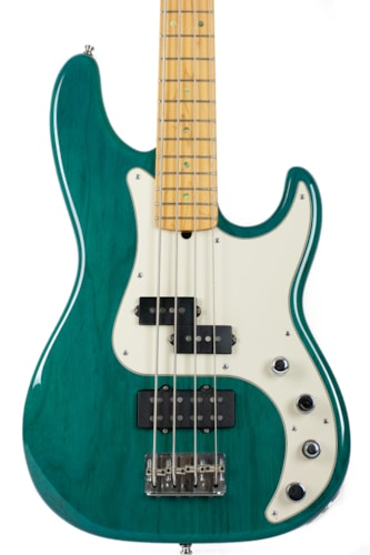 2002 Fender American Deluxe Precision Bass in Transparent Teal