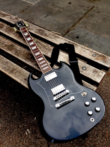 2002 Gibson SG Standard FORMERLY OWNED BY GARY MOORE Black, Brand New, $7,620.00