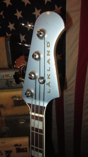 2003 Lakland Duck Dunn P-Bass Made in USA Ice Blue, Excellent, GigBag, $2,195.00
