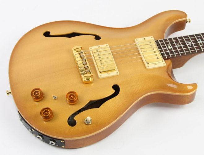 2003 PRS McCarty Hollow-Body Amber Burst, Excellent, Original Hard, $2,199.00
