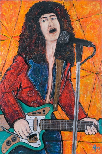 2004 Alex Mortimer Bang A Gong (Get It On). An Original Portrait of Marc Bolan Brand New