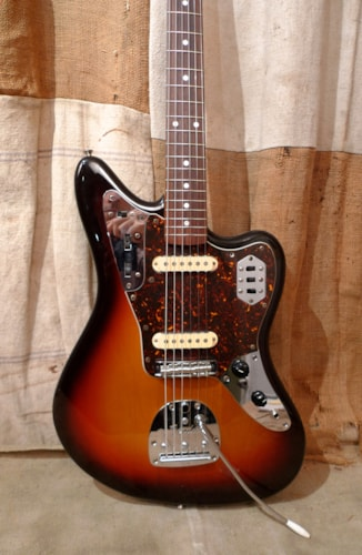 2004 Fender Jaguar (1962 Reissue) Sunburst, Very Good, Soft, $975.00