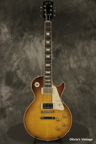 """2004 Gibson Jimmy Page '59 Les Paul """"Number One"""" + 2010 """"Number Two"""" Sunburst SIGNED + AGED set"""