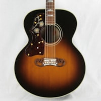 2004 Gibson SJ-200 LEFT-HANDED Sunburst J200 Jumbo Maple Acoustic Guitar! j45