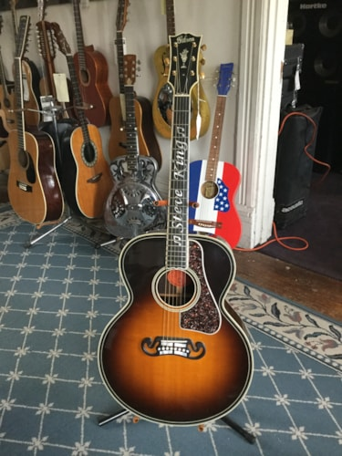 2004 Gibson Steve King Custom SJ-200 Western Classic Acoustic Guitar Tobacco Burst, Excellent