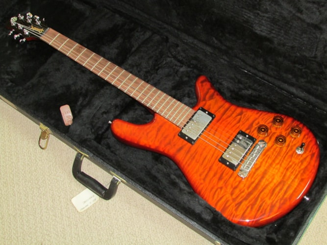 2004 Spector USA Arc 6 Prototype Amber Quilt, Excellent, Original Hard