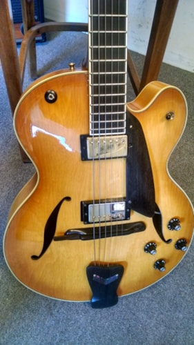 2005 D'Aquisto Electric Amber Burst, Excellent, Hard