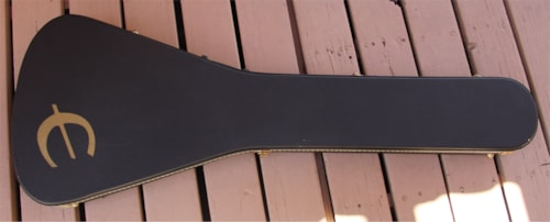 2005 Epiphone Flying V Guitar Case Black with Black Lining, Excellent, $99.95
