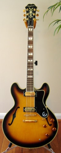 2005 Epiphone Sheraton Sunburst, Near Mint, Original Hard
