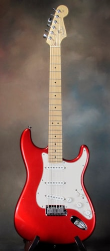 2005 Fender American Series Stratocaster Chrome Red, Very Good, Original Hard, $850.00