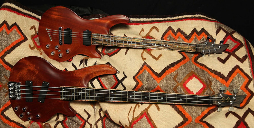 2006 Curbow Petite Guitar and M4 Bass Mahogany, Excellent, Original Hard