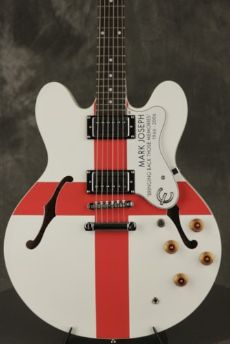 2006 Epiphone Custom World Cup Dot Mark Joseph Red White, Near Mint, Original Hard