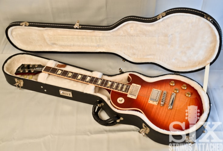 2006 Gibson AAA Flame Top Les Paul Standard Premium Plus Heritage Cherry Sunburst, Excellent, Original Hard, $2,180.00