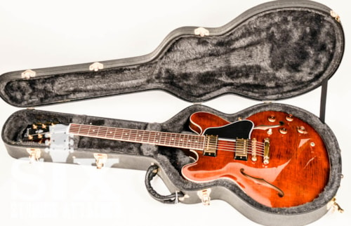 2006 Gibson ES-335 TD, ES335 Dot Neck, Trans Root Beer, Flamed Maple, Near Mint